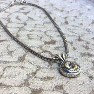Brighton Jewelry - Brighton Silver Gold Sparkly Pendant